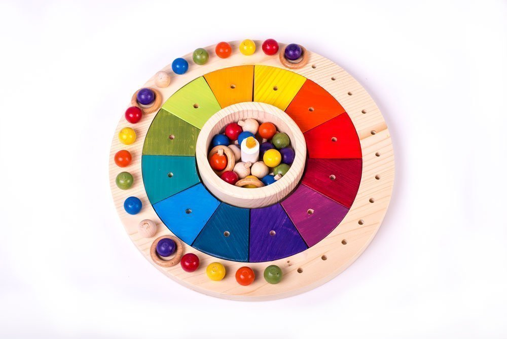 Montessori Wooden Toy Calendar for Children – 12,99 In Diameter, Perpetual Calendar Waldorf