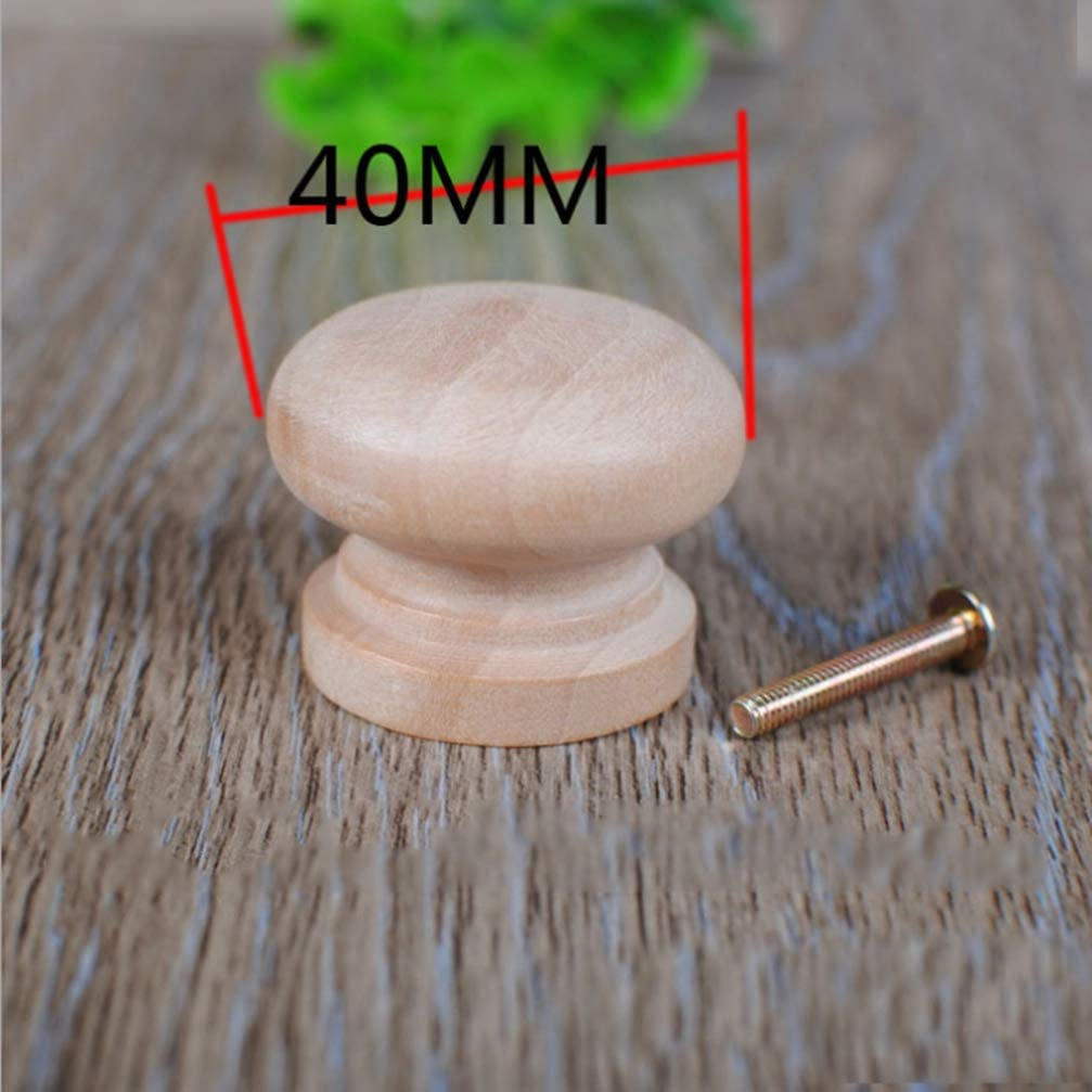 Healifty Runde Unfertige H/ölzerne M/öbelfachkn/öpfe Des Kabinetts 15Pcs Zieht Griffpilzform-M/öbelkn/öpfe Gr/ö/ße 3