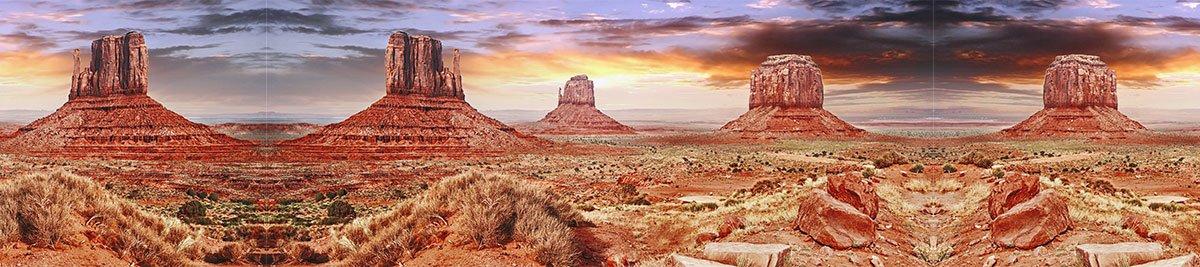 Reptile Habitat, Terrarium Background, Cool Desert Sky + Sides 12  Tall X 54  Wide Good for 20L & More.