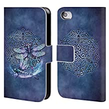 Official Brigid Ashwood Dragonfly Celtic Wisdom Leather Book Wallet Case Cover For Apple iPhone 5 / 5s / SE