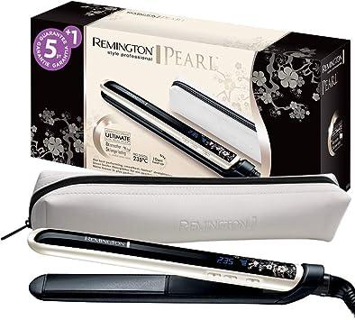 Oferta amazon: Remington S9500 Pearl - Plancha de Pelo, Cerámica Avanzada con Perla, Digital, con bolsa incluida, color Blanco y Negro