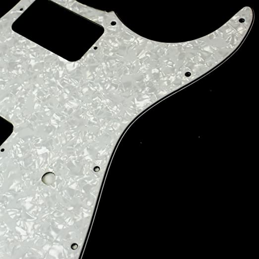4ply White Pearl Celluloid Charvel SO CAL Style Replacment Guitar Pickguard
