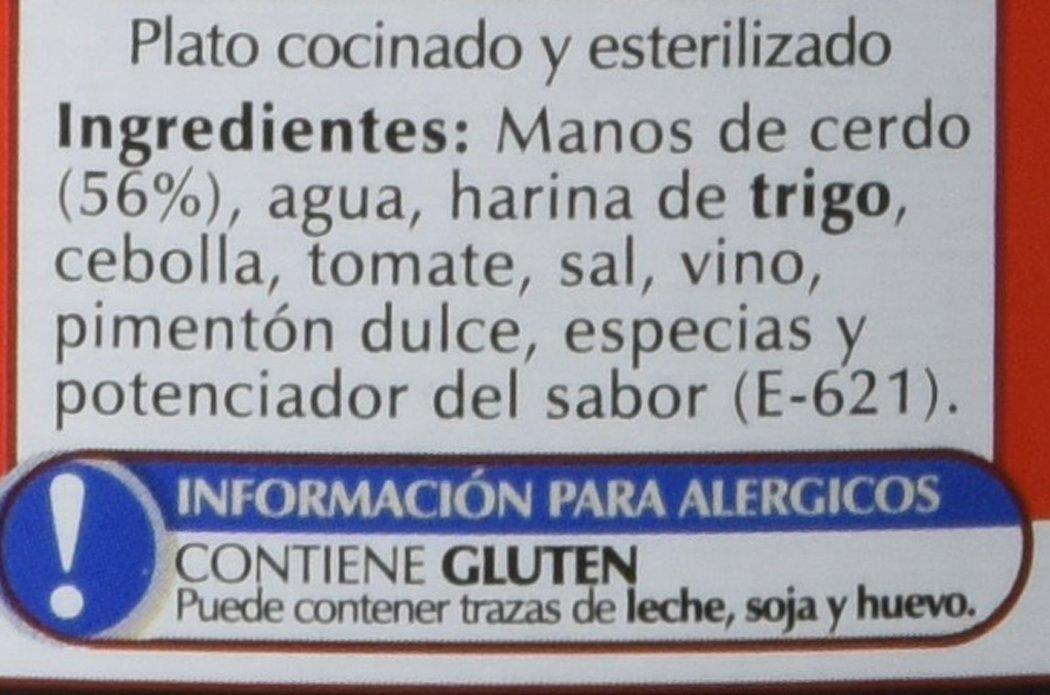 Coren Lourino - Manos de Cerdo - 440 g: Amazon.es: Alimentación y bebidas