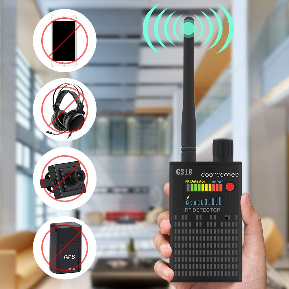 "Super Anti-spy Bug GPS Camera RF Signal Detector Set [Advanced Version], Dooreemee GPS Tracker Wireless Camera Amplification Ultra-high Sensitivity GSM Device Finder(2"" X 0.8"" X 3.3"", 4.1oz, Handheld)"