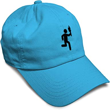 Custom Baseball Cap Running Antorch Person Embroidery Dad Hats for Men /& Women