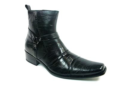 Delli Aldo Mens 681 Western Style Faux Leather Riding Boots  B00HEPASOC