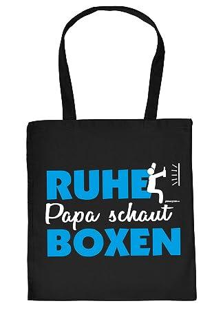 799879458c3b7 Vater Geschenk Tasche - Papa Sprüche Boxer Tasche   Ruhe Papa schaut Boxen  - Geschenktasche Vater