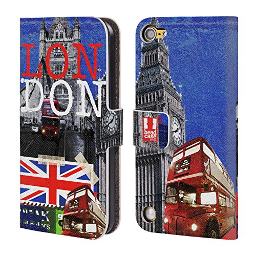 Head Case Designs Cima I Love London Cover a portafoglio in pelle per iPod Touch 5th Gen / 6th Gen
