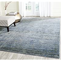 Safavieh Mystique Collection MYS920F Vintage Watercolor Overdyed Blue and Multi Distressed Area Rug (10 x 13)