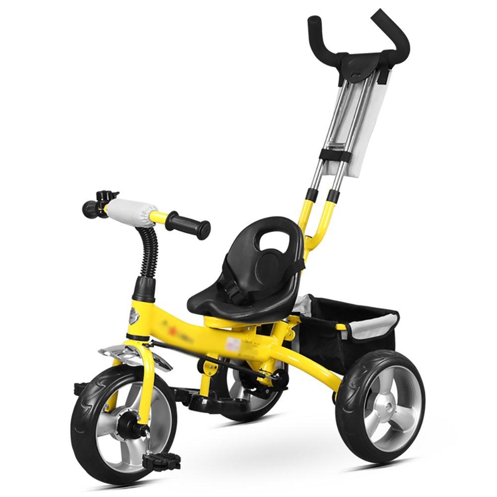シングルロッド子供用三輪車ベビーベビーカーシンプルな2-6歳のベビーカー B07FJLLBFN B07FJLLBFN イエロー イエロー いえろ゜, タマノシ:5d7c9587 --- rchagen.ru