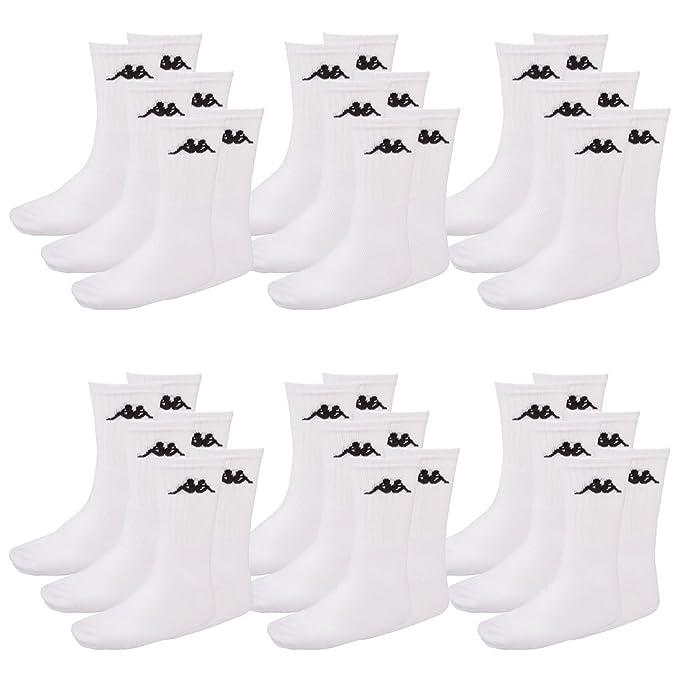 Kappa - Calcetines de deporte - Opaco - para hombre blanco Blanco (001 White)