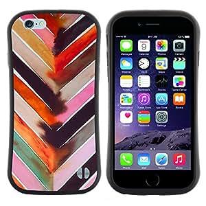 """Hypernova Slim Fit Dual Barniz Protector Caso Case Funda Para Apple (4.7 inches!!!) iPhone 6 / 6S (4.7 INCH) [Arte de la acuarela Modelo rosado""""]"""