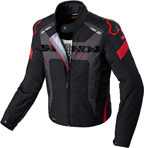 vendita calda online 845e0 9718f Giacca da Moto Spidi Warrior Sport H2Out WP - Rosso, colore ...