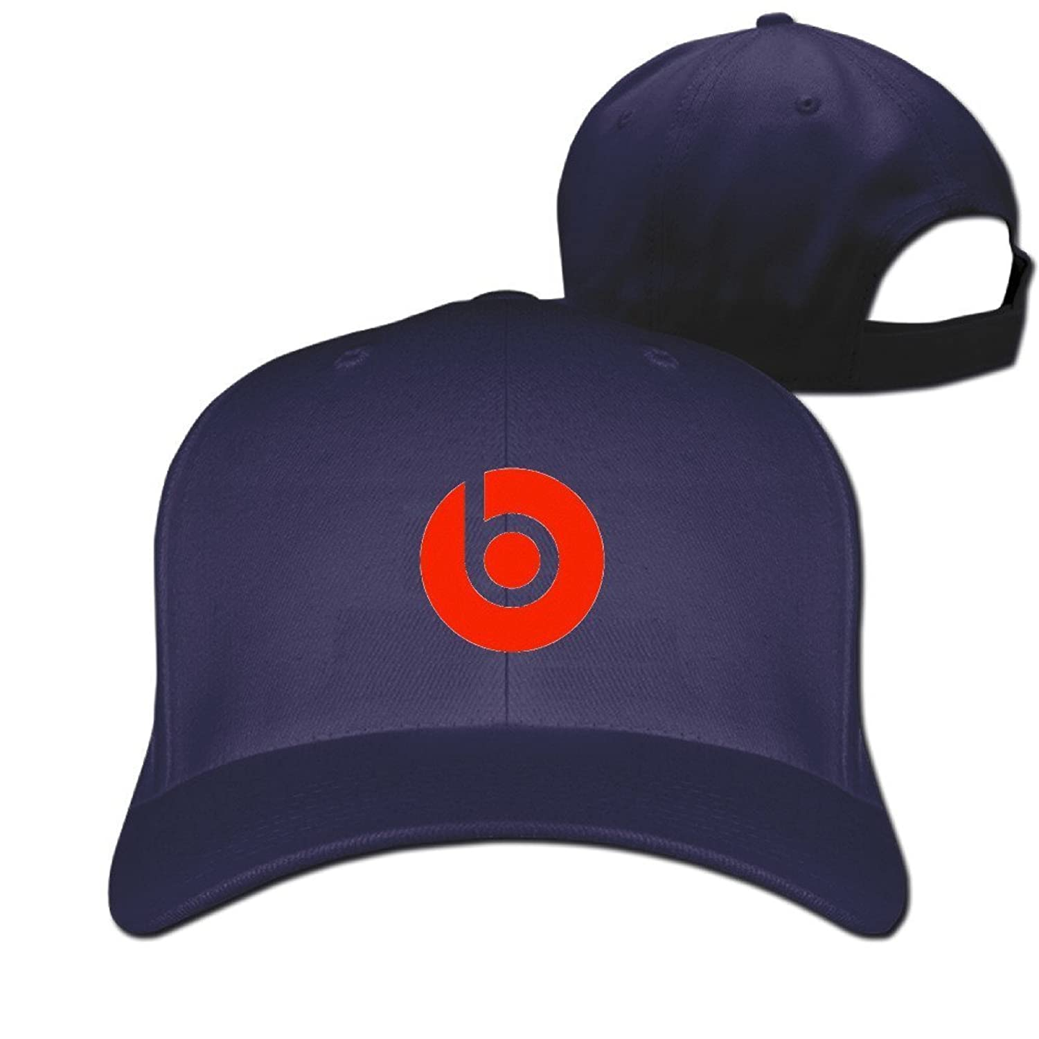 GXGML Beats-by-dre-logo Unisex Fashion Adjustable Pure 100% Cotton Peaked Cap Sports Washed Baseball Hunting Cap Hunting Cap Red