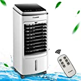 Kadeer Portable Air Conditioner 4-in-1 Air Cooler with Humidification and Air Cleaning Function 75W 4 Liter Water Tank Air-Conditioning Fan with Remote Control and LED Display EU Version