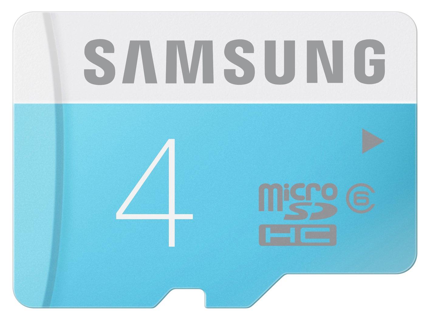 TALLA 8 GB. Samsung Standard - Tarjeta de Memoria Micro SDHC de 8 GB (Clase 6, 24 MB/s, con Adaptador SD)