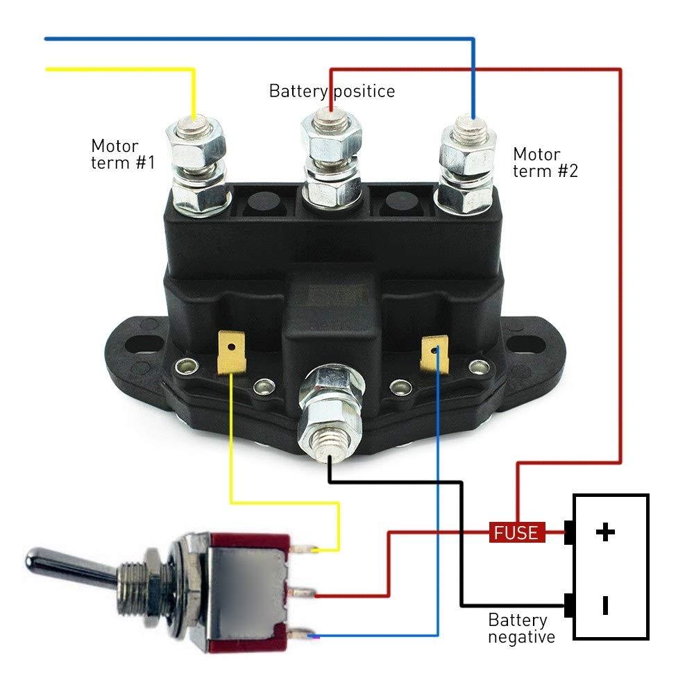 moteur de treuil de relais de 12 volts inversant la bo/îte de commande de treuil de commutateur de sol/éno/ïde Voiture de cha/îne de neige Cha/îne neige Contacteur de relais de sol/éno/ïde de treuil
