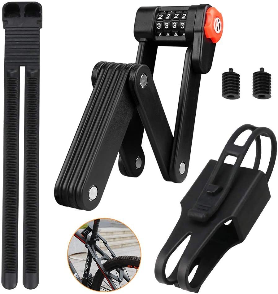 3x KEY: High security level 15 Folding Lock-Bicycle with Bracket: