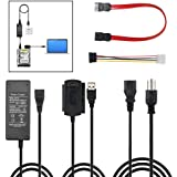 "SATA, PATA, IDE Drive to USB Adapter Converter Cable for Hard Drive Disk HDD 2.5"" 3.5"", Compatible with USB 1.1/2.0/3.0, with External AC Power Included"