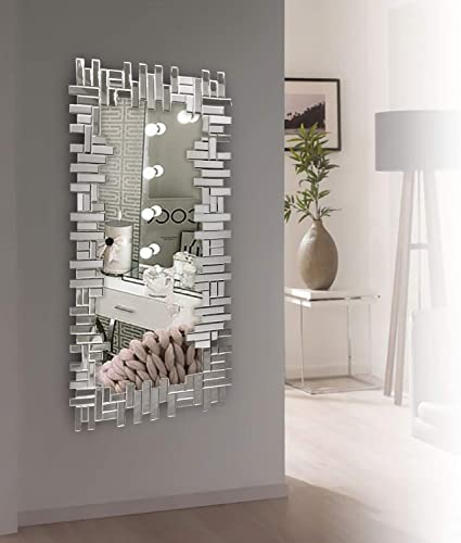 Art Decorative Wall Mirrors Large Grecian Venetian Mirror for Hotel Home Vanity Sliver Mirror 24.8 x 47.3