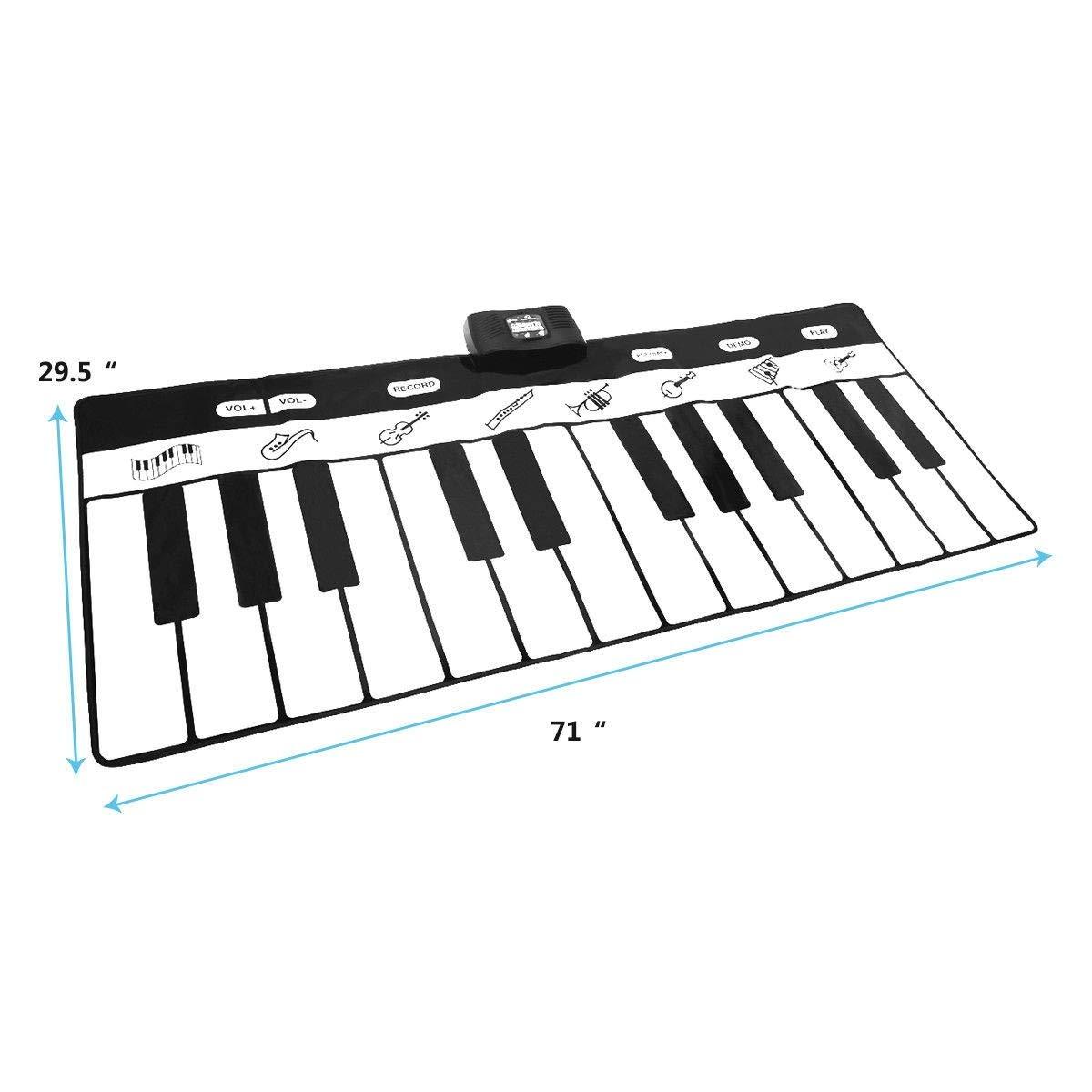 Dayanaprincess New Kids 24 Key Gigantic Piano Keyboard with 8 Instrument Settings Learning Children Play Set Fun Entertaining Book Melody by Dayanaprincess (Image #2)
