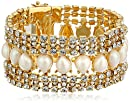 """kate spade new york """"Seaview"""" Gold-Tone, Crystal, and Pearl Bracelet"""