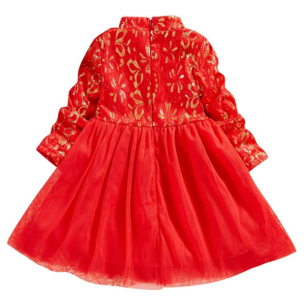 Kids Girls Embroidery Qipao Chinese Cheongsam Tutu Dresses Party Wedding Princess Dress