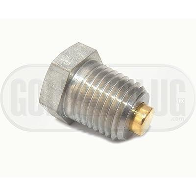 "1/4""-18 NPT Industrial Magnetic Stainless Steel Drain Plug (External Head) IP-02X: Automotive"