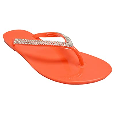 Shop Pretty Girl Women's Sandals with Rhinestones Embellished Bling Glitter Strap Flip Flop Thong Sandal | Sandals