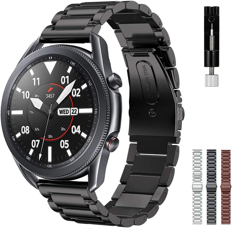 Malla de acero negra para Samsung Galaxy Watch 3 41 mm