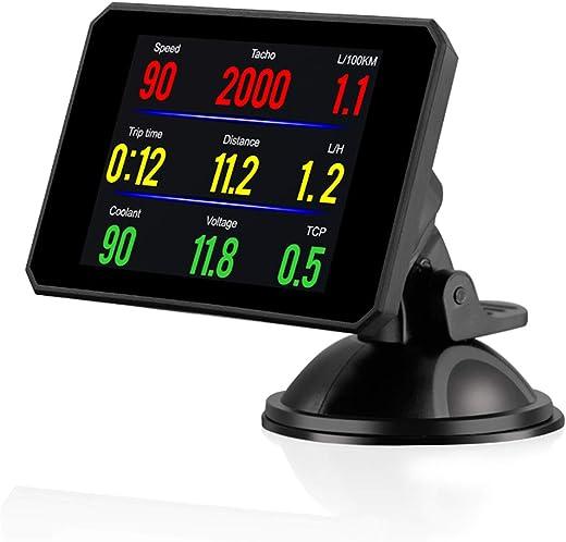 Mainstayae P16 Head up Display OBD Smart HUD Auto Digital Meter OBD2 Port Warning Windshield Alarm System