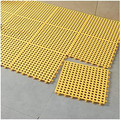 GHHQQZ バスルームラグ スプライス 排水設計 マッサージ デッキ スイミングプール、厚さ1 cm、30x30cm、3個 (Color : Yellow, Size : 8pcs)