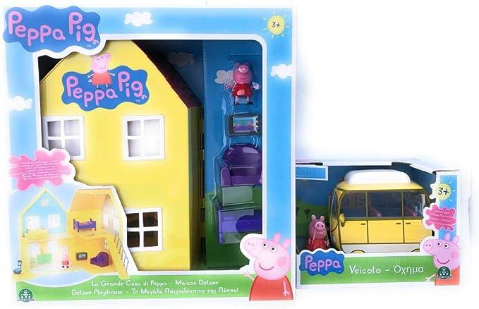 Amazon.es: Peppa Pig La Grande CASA Deluxe+ Mini Camper Peppa Pig Set Completo - Giochi Preziosi PPC38000: Juguetes y juegos