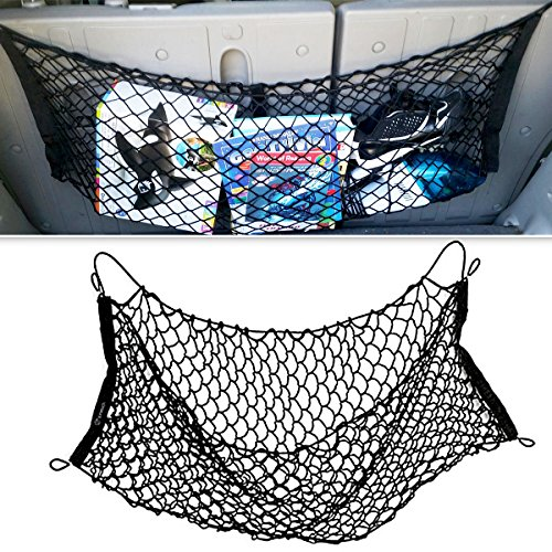 Zone Tech Mesh Vehicle Organizer Premium Quality Sturdy Black Net Item Trunk Cargo Car Organizer (Brand New Vw Camper Vans For Sale)