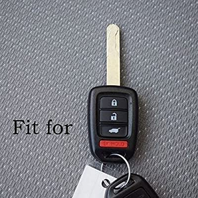 2Pcs XUHANG Sillicone key fob Skin key Cover Remote Case Protector Shell for Honda Accord sports LX Civic HR-V CR-V 4 button black: Automotive