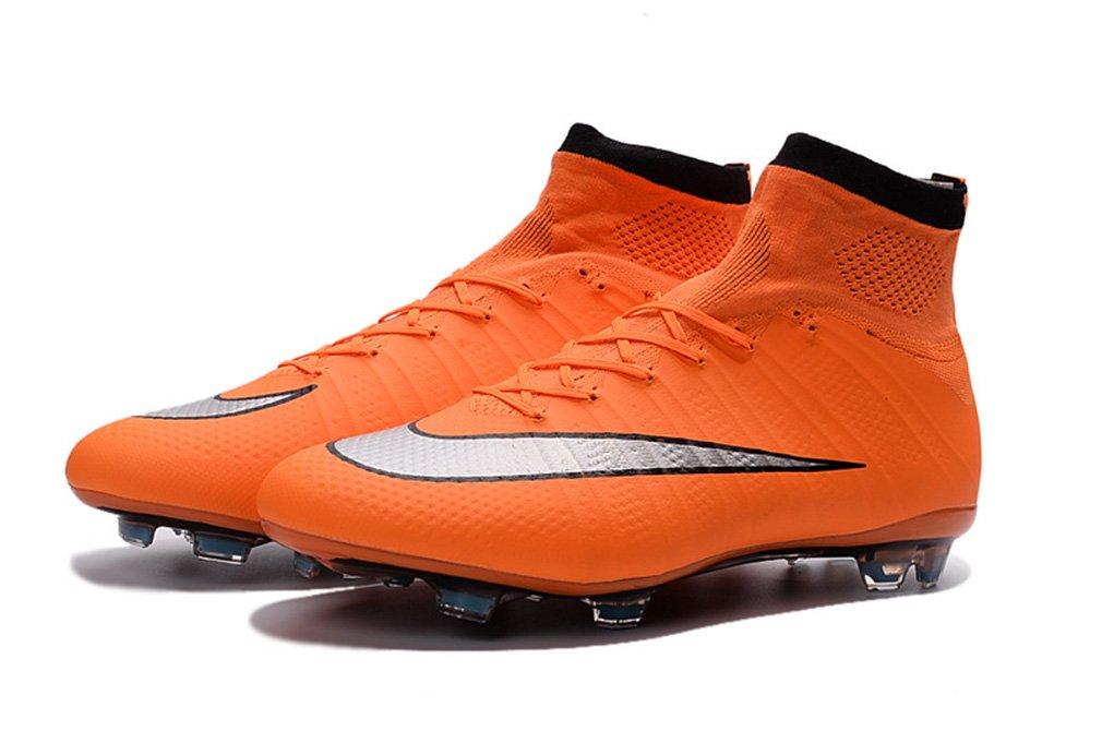 Asesenst Stiefel Herren Mercurial X Superfly IV FG High Top Orange Fußball Schuhe Fußball Stiefel