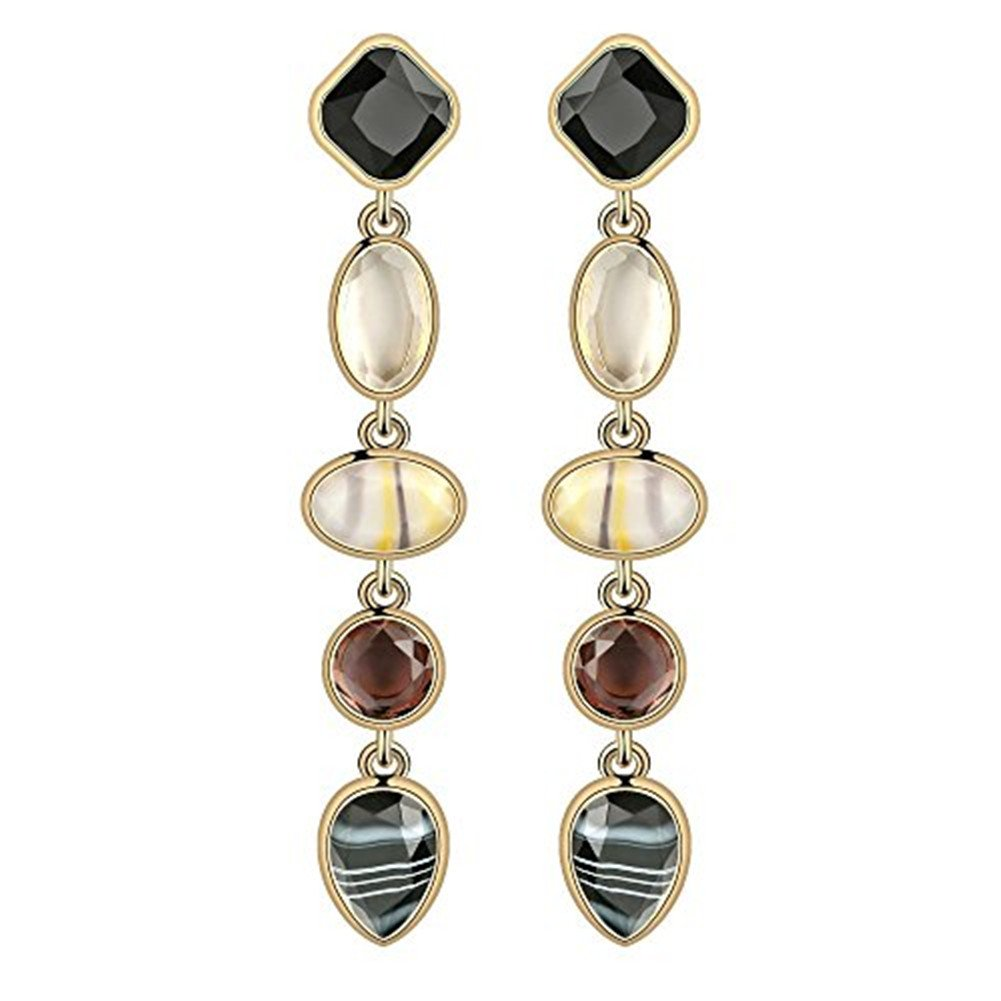 Fashion Creative Colorful Crystal Women Earrings Set Chunky Teardrop Gemstone Drop Dangle for Girls - Style 5