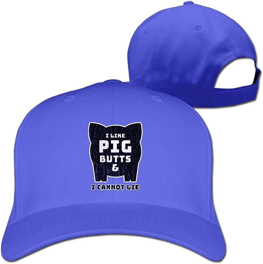 PWLLS Unisex I Like Pig Butts and I Cannot Lie Printed Baseball Cap Adjustable Hat For Outdoor /& Home