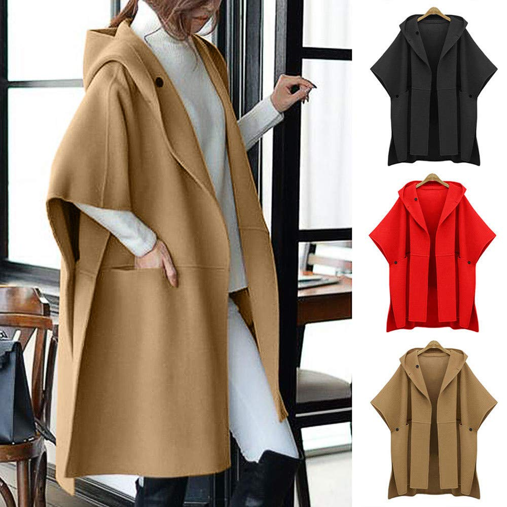 cca25015c3c HHmei Coat Women s Loose Batwing Outwear