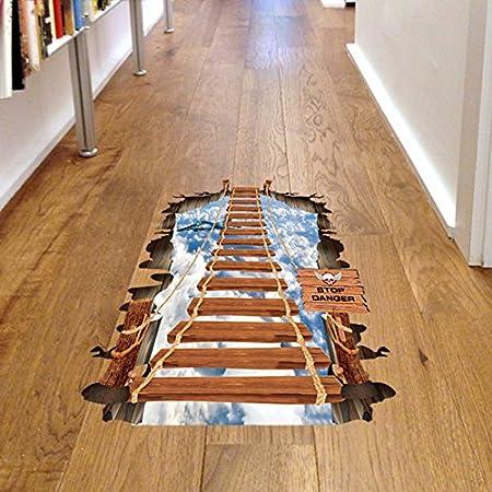 ZHFC-Mural Decorativo de Pared Suelo Pegar Pegatinas Pegatinas de Pared Decorativos Cielo Puente Escalera Suelo Suelo Pegar 60 * 90 cm: Amazon.es: Hogar