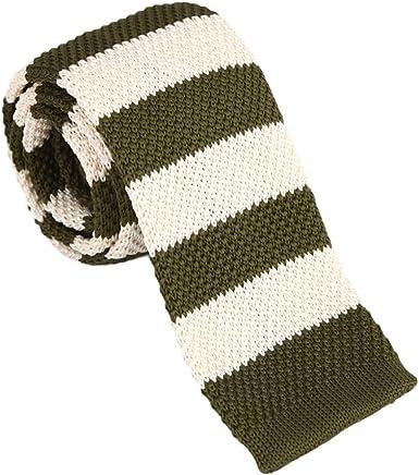 Dan Smith Mens Tie Fashion Casual Stripes Microfiber Necktie Series Neck Tie