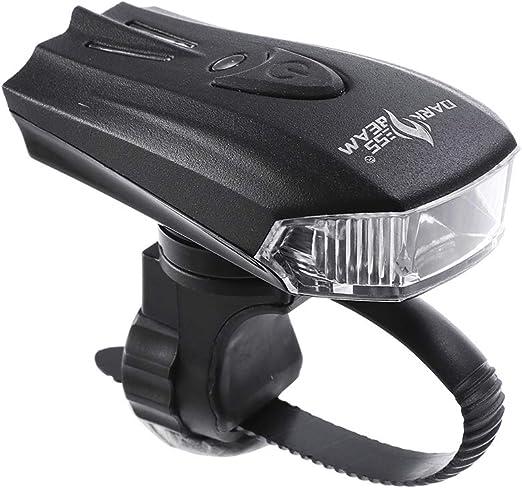 USB recargable linterna LED luces delanteras luz bicicleta ...