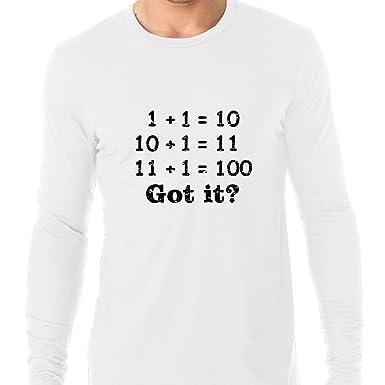Amazon Com Binary Math Computer Science Humor Graphic Men S Long