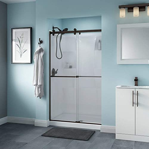 Delta Shower Doors SD3276561 Trinsic Semi-Frameless Contemporary Sliding Shower Door 48in.x71in Handle
