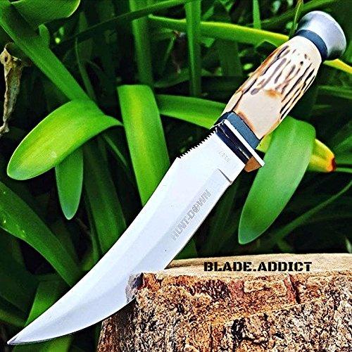 9  Bone Collectors Fixed Blade Upswept Skinning Knife Hunting Bowie Skinner