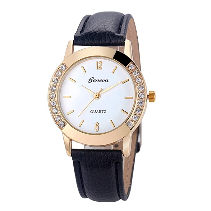 Amazon.com: Womens Watch,Geneva Diamond Analog Wristwatch Leather Quartz Party Wrist Watch Axchongery (Green): Cell Phones & Accessories