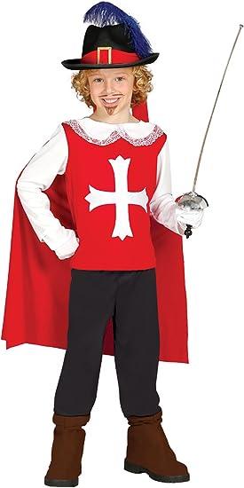Guirca - Disfraz de mosquetero con traje y capa, para niños de 5-6 ...