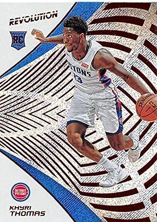 2018-19 Panini Revolution Basketball #124 Khyri Thomas RC Rookie Card Detroit Pistons Rookie