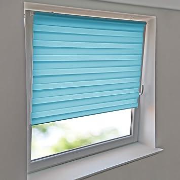 Doppelrollo f/ür Fenster /& T/üren Seitenzugrollo /& Jalousie Natur HxB 160x60 cm moderner Sichtschutz KLEMMFIX Tag /& Nacht Duo Rollo Easyfix Variorollo Mini ohne Bohren