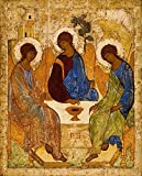 Holy Trinity PRINT ON CANVAS 16x20 Picture Andrei Rublev icon Catholic prints Religious wall art